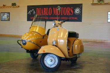1970 Piaggio Vespa Rally 180, 180cc all original Italian scooter, with sidecar, super fun, runs great!