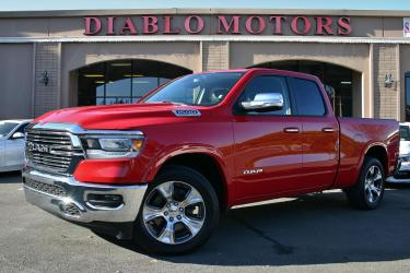 2020 RAM 1500 Laramie Quad Cab 4WD, loaded, leather, heat/cool seats, rear camera, tow pkg, MINT!