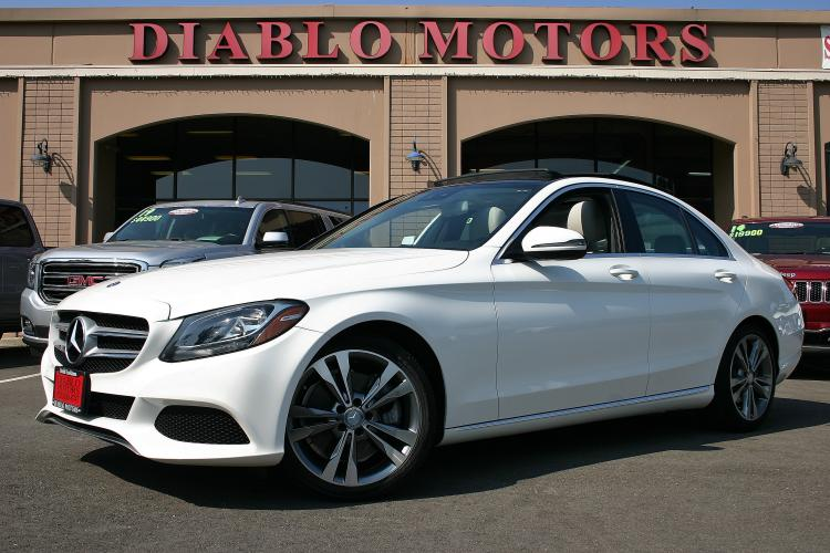 2016 White /Light Gray Leather Mercedes-Benz C-Class C300 Sedan (55SWF4JB9GU) with an 2.0L L4 DOHC 16V engine, Automatic with Overdrive and Paddle Shifters transmission, located at 2067 San Ramon Valley Blvd., San Ramon, CA, 94583, (925) 830-8747, 37.738945, -121.952454 - Photo #0