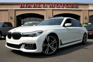 2017 BMW 7-Series 740i M-Sport, loaded, Executive pkg, panoramic moonroof, white, super clean!