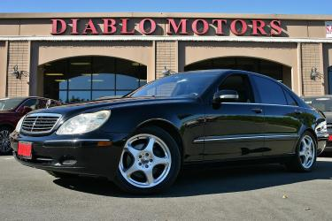 2002 Mercedes-Benz S-Class S430 Sedan, loaded, leather, navigation, upgraded AMG wheels, all black, clean!