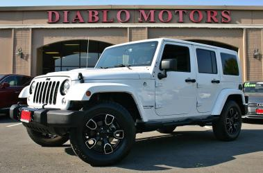 2018 Jeep Wrangler Unlimited Sahara Altitude 4WD, V6, automatic, white body and hardtop, black leather, heated seats, super clean!